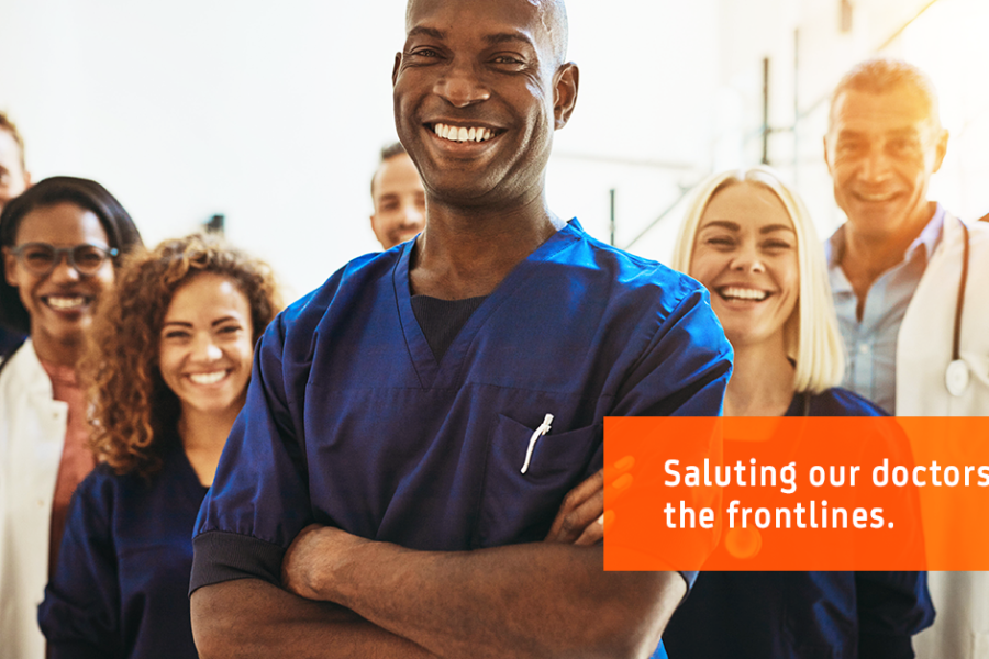 Saluting our doctors on the frontlines of the coronavirus pandemic